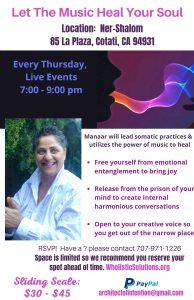 Healing Circles Manaar Azreik Thursday Weekly Live Events 7 9 pm 1 Home